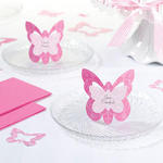 Pink Butterfly Place Cards - Pkg 12