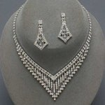 Vegas Nights Clear Rhinestone Necklace Set