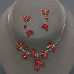 Red Butterfly Design Necklace Set