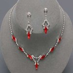 Twilight Marquis Rhinestone Necklace Set - 6 Colors!