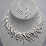 Irresistible Icicle Rhinestone Necklace Set
