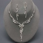 Leaf & Vine Rhinestone Necklace Set