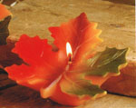 Vibrant Fall Maple Leaf Floating Candle