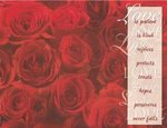Love Red Roses Blank Wedding Programs - Pkg 100