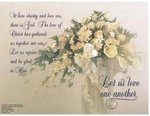 Love One Another Bouquet Blank Wedding Programs - Pkg 100