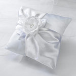 White Rose Ring Pillow