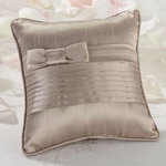 Taupe Pleated Ring Pillow
