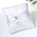 White Sash Ring Pillow