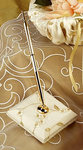 Ivory Floral Embroidered Organza Pen Set