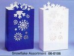 Die Cut Snowflake Luminary Bag - 2 Colors!