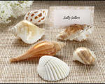 Shells by the Sea Authentic Shell Placecard Holders with Matching Placecards - Pkg 6