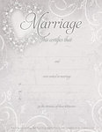 Pale Lavender Heart Marriage Certificate