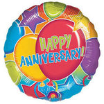 18 Happy Anniversary Mylar Balloon