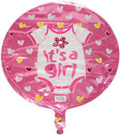 18 Its a Girl Onesie Mylar Balloon