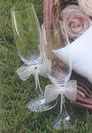Paper Rose Wedding Champagne Flutes