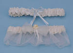 Paper Rose Wedding Garter Set