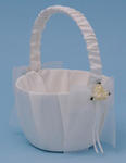 Paper Rose Wedding Flower Girl Basket