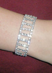 Ladder of Light Rhinestone Stretch Bracelet