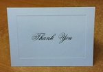 Gold Foil Thank You Cards - Raised Border - Pkg 50