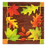 Contemporary Leaves Luncheon Napkin - Pkg 16