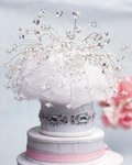 Alluring Crystal Spray Cake Topper with Swarovski Crystal