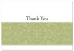 Sage Swirl Thank You Cards - Pkg 50
