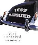 JUST MARRIED Car Magnet Kit