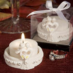 Elegant Heart Design Favor Saver Candle