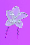 Flower Design Silver & Rhinestone Hair Pin