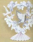 Fabric Fower Table Centerpiece Dove Design