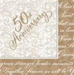 25th or 50th Anniversary Napkins