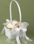 He Loves Me Flower Girl Basket