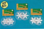 3 Frosted Glitter Snowflake Ornaments - Pkg 2