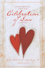 Celebration of Love Hearts Blank Wedding Program - Pkg 100