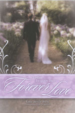 Couple in Garden Forever Love Blank Wedding Programs - Pkg 100