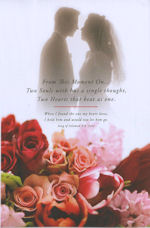 Bride & Groom / Floral Wedding Programs - Pkg 100