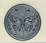 Foil Embossed Butterfly Seals - Silver or Gold - Pkg 25