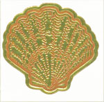 Gold Foil Embossed Shell Seals - Pkg 25