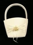 Ivory & Gold Cinderella Coach Flower Basket