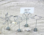 Beach Silver Silhouette Placecard Holders - Set of 4