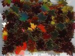 Fall Leaves Multi Color Metallic Confetti