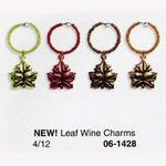 Maple Leaf Wine Glass Charms - Pkg 4
