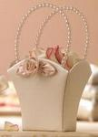 Blush Ivory & Pearl Flower Girl Basket
