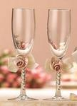 Blush Ivory Satin Toasting Glasses