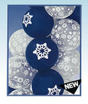 11 Snowflake Top Print Latex Balloon