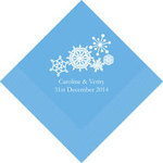100 Winter Finery Snowflake Napkins - 2 Sizes!