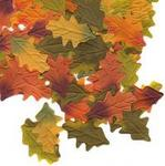 Multi-Color Fall Autumn Silk Oak Leaves - Pkg 100