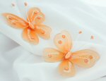 2.5 Orange Glitter Nylon Butterflies - Pkg 25