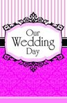 Pink & Black Blank Wedding Programs - Pkg 100