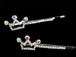 Princess Rhinestone Hair Pins - Pkg 2